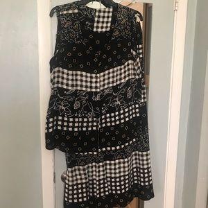 Nice Blk/Wht Skirt Set , XL